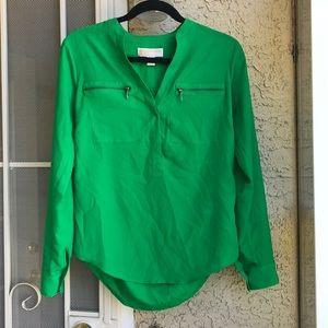 Michael Kors bright green blouse, size XS